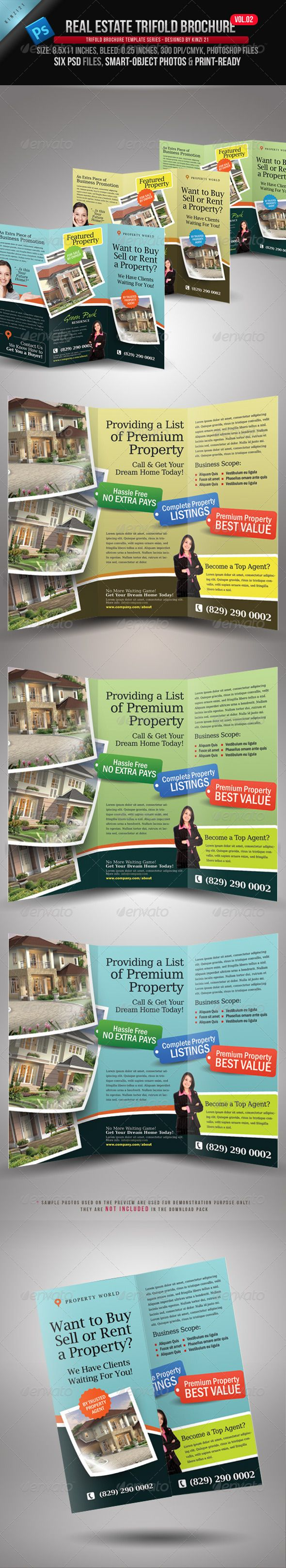 Real Estate Template%0A Real Estate Trifold Brochure Vol