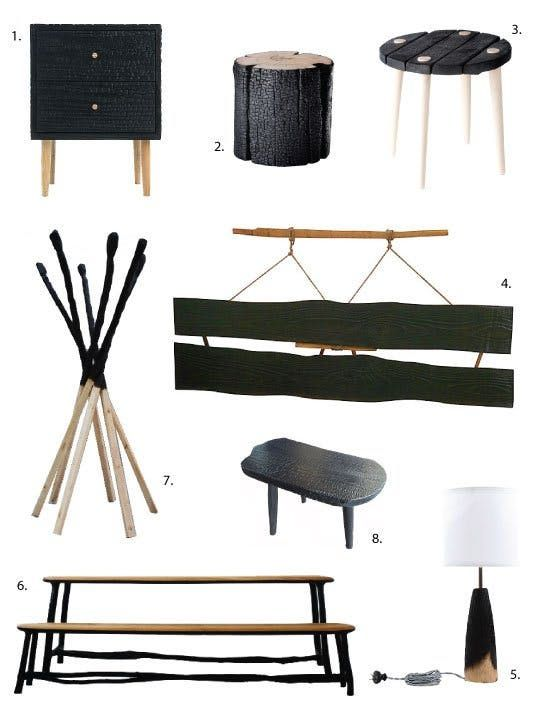 Decorating Trend: Charred, Burnt & Blackened Wood