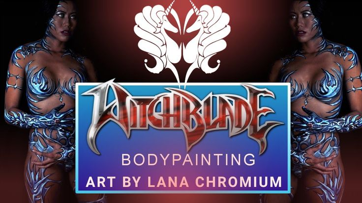 WITCHBLADE cosplay bodypainting by Lana Chromium for ComicCon - Video --> http://www.comics2film.com/witchblade-cosplay-bodypainting-by-lana-chromium-for-comiccon/  #Cosplay