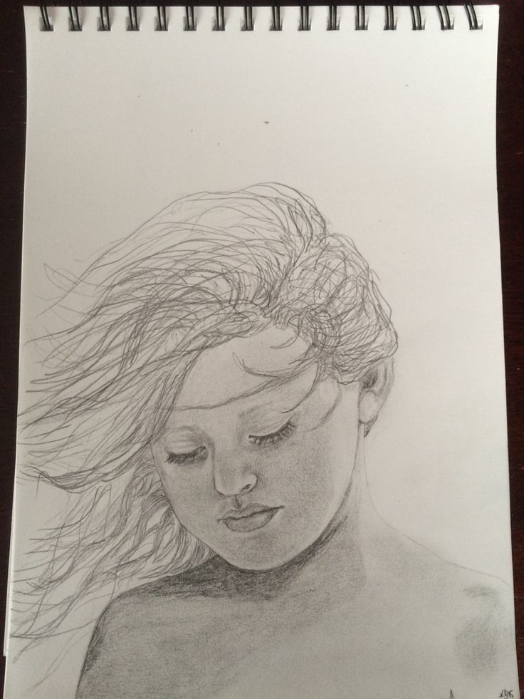 Drawing portrait girl