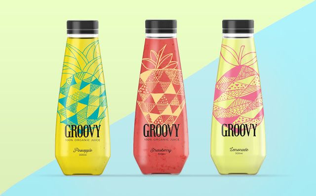 Groovy 100% Organic Juice (Student Project) on Packaging of the World - Creative Package Design Gallery
