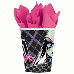 Monster High 9-oz Cups (8 Pack) | $2.17 | http://www.discountpartysupplies.com/girl-party-supplies/monster-high-party-supplies/monster-high-cups.html