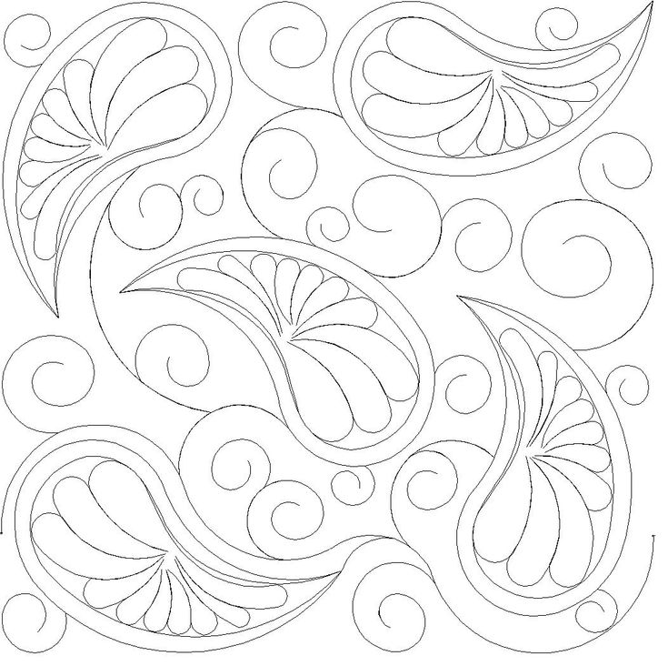 Shop | Category: Feathers / Pearls / curls | Product: Paisley and Feathers E2E simple