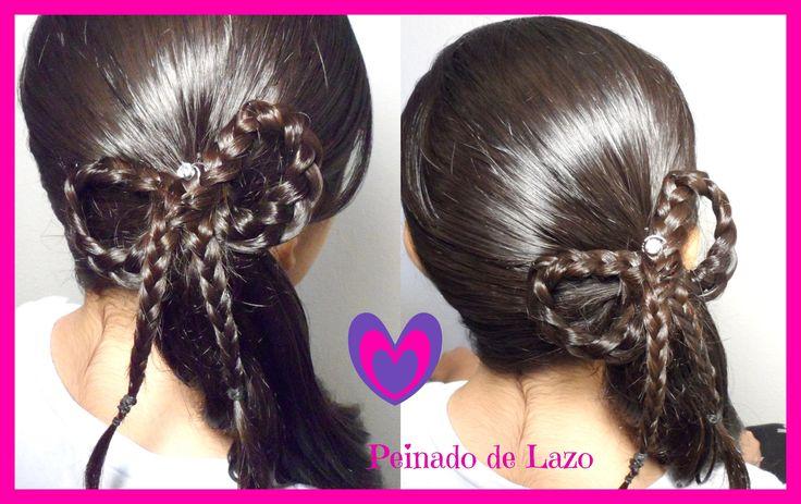 Peinado: Coleta Con Trenza De Lazo/Moño| Peinados Para Ninas|CositasyMan...