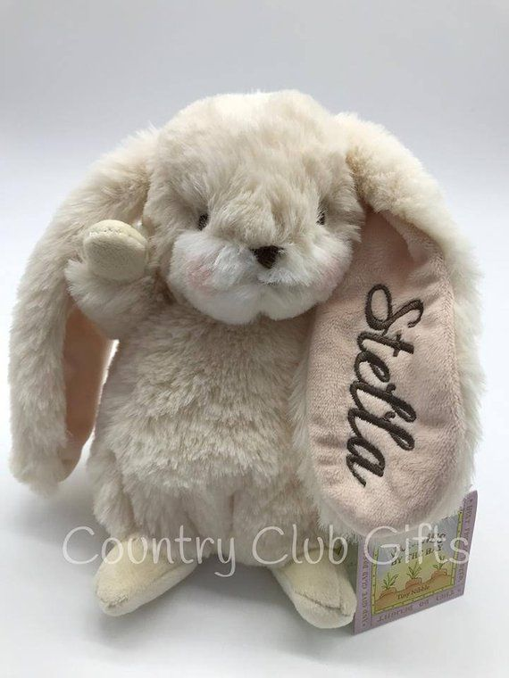 Personalized Bunny Baby Shower Gift Stuffed Bunny Stuffed