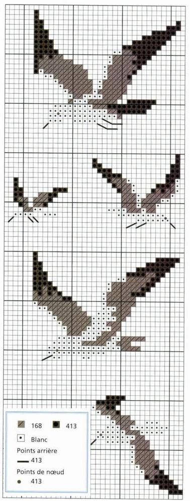 Seagulls Birds Cross Stitching Maritime Nautical Beach