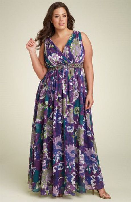 Maxi dresses for plus size women