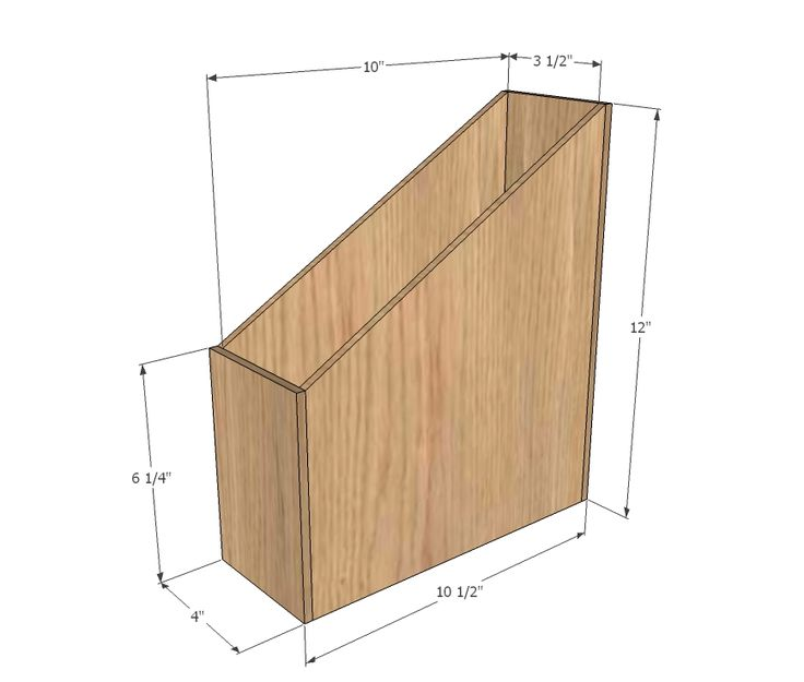 Ana White | Build a Wood Magazine File | Free and Easy DIY Project and Furniture Plans