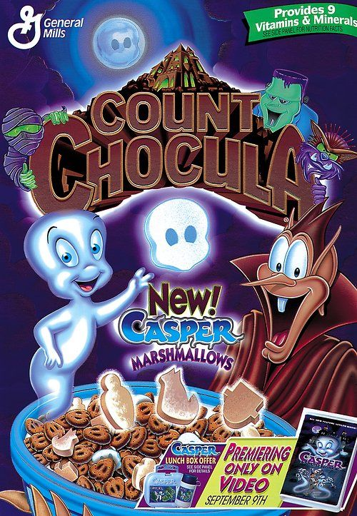 Remember in 1997 when Count Chocula had Casper