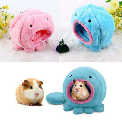 Small Pet Toy Warm House Cage Plush Bed For Rabbit Rat Hamster Parrot Squirrel