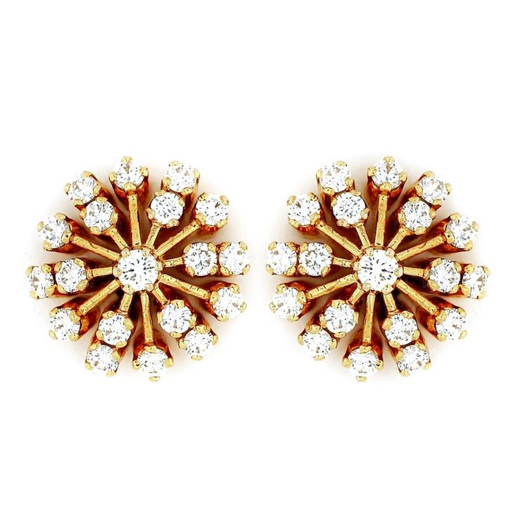 Two-Row Diamond Ear Stud