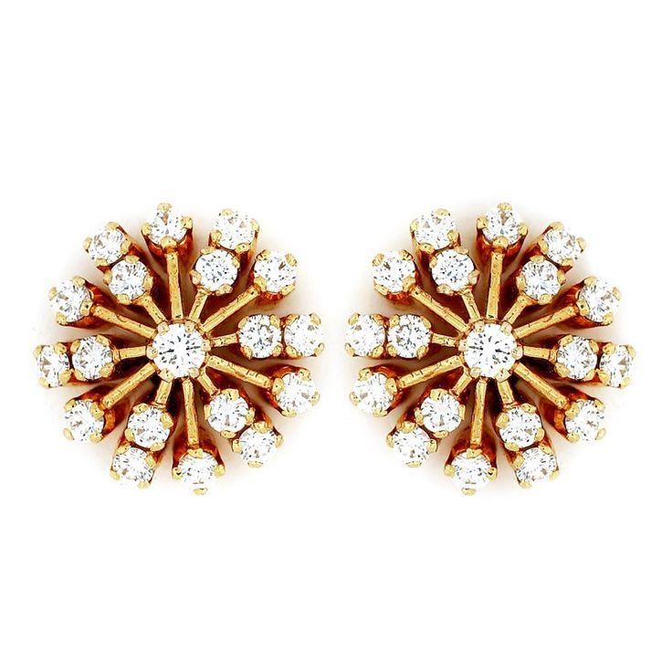 Two-Row Diamond Ear Stud