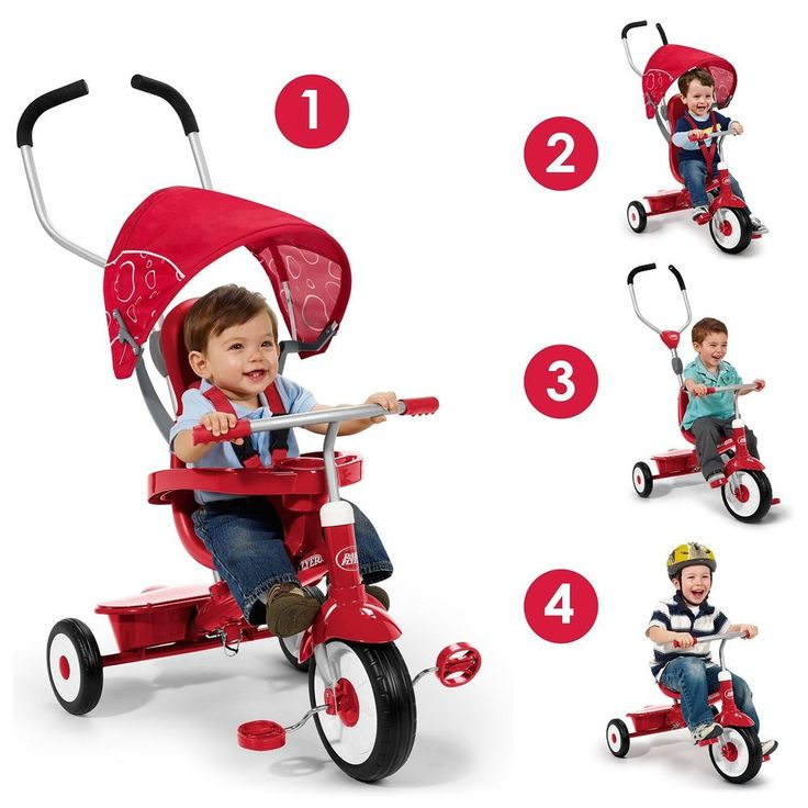 How much fun would this be! You would get so much use out of it for years! Radio Flyer 4 Stage Trike for Kids Boys/Girls Children Toy Outside Play Ride Stroller #RadioFlyer