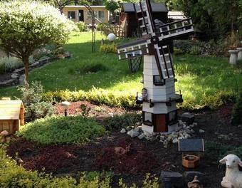 Gartenwindmühle 160 cm x 50 cm  Windmühle,Gartenmühle,Windmühle neu bauen