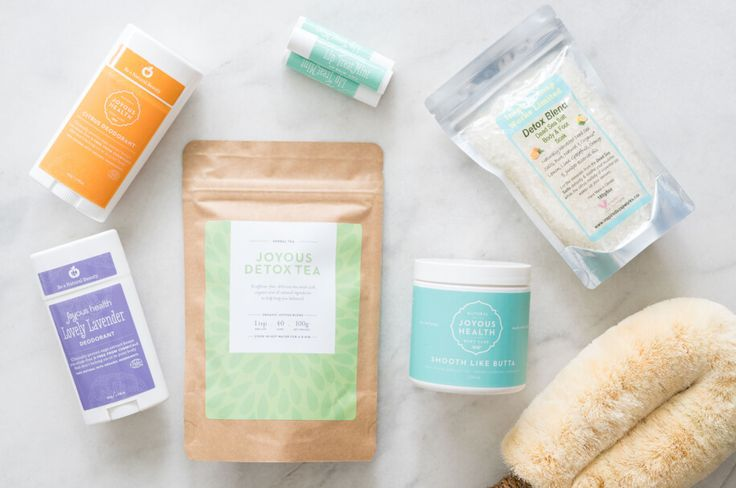 Joyous Detox Essentials Package – detox your body daily with non-toxic Citrus or Lovely Lavender Deodorant, Joyous Detox Tea, Joyous Lip TreatMint, Smooth Like Butta Body Butter, Dead Sea Salts and a Dry Skin Brush