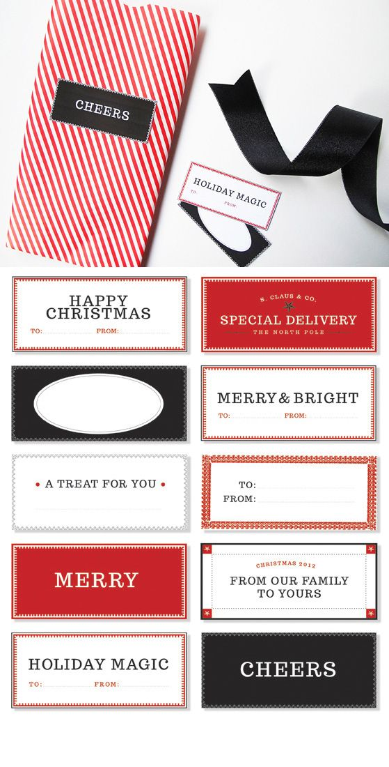 51 Adorable Christmas Tags. Some of these ideas are just ridiculous, but the printouts are great!