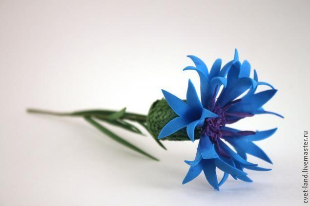 Василек из фоамирана Фоамиран Pinterest Цветы и