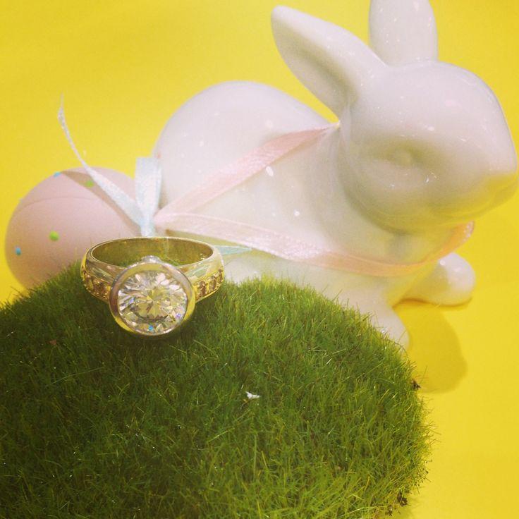 3 carat diamond ring Easter bunny bridal engagement ring www.underwoodsfinejewellerskawana.com.au