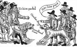 Roundheads and Cavaliers with their dogs of war