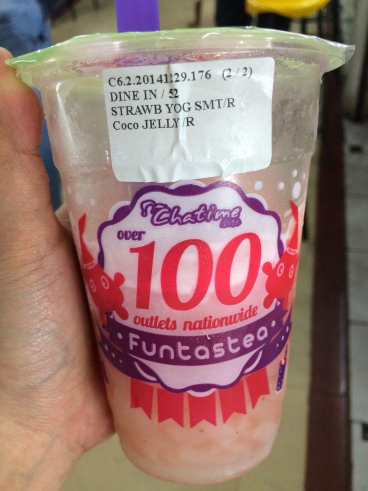 Chatime - strawberry yogurt #breaktime