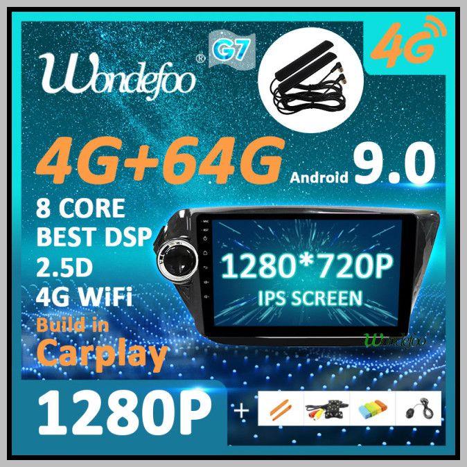 New 1280P Android 9.0 4G 64G Carplay Auto GPS for KIA K2