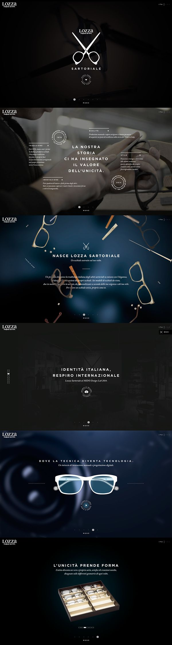 LOZZA SARTORIALE _ New website by Davide Scarpantonio, via Behance