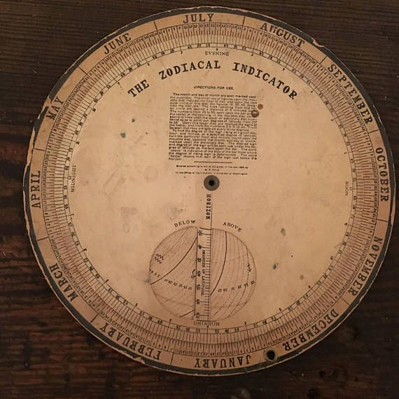 The Zodiacal Indicator 1896  Victorian Astrology Calculator  This is sooooo awesome to see!