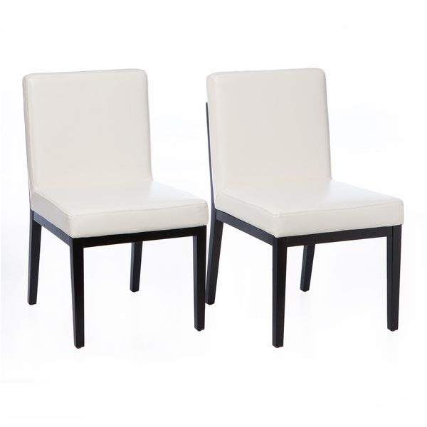 Bobby Modern White Leather Dining Chairs (Set of 2) - Best 25+ White Leather Dining Chairs Ideas On Pinterest