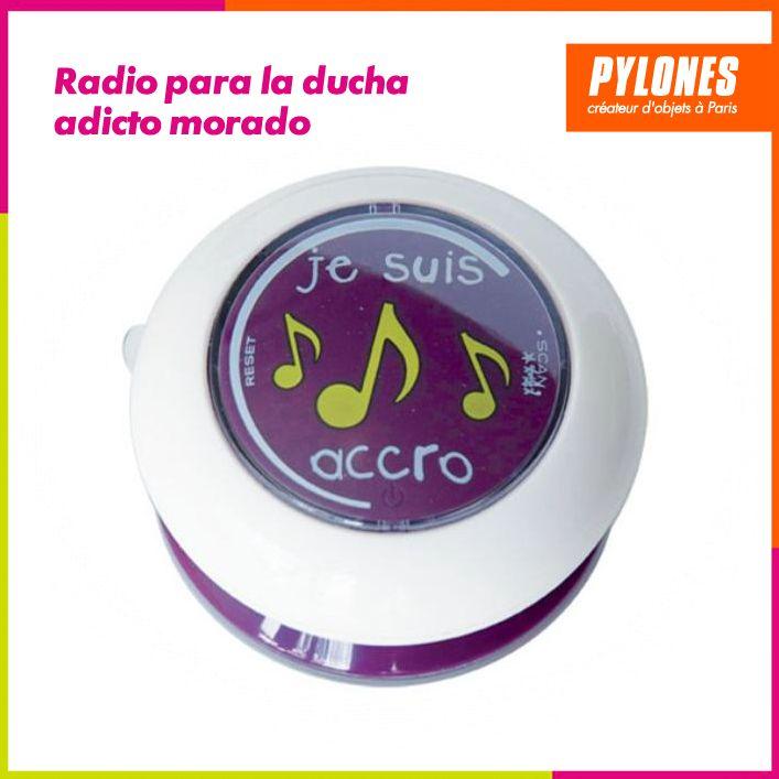 Radio para la ducha adicto morado #Hogar #Casa #Color