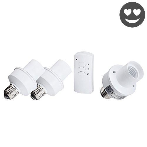 #christmas Conveniently control 3 different lighting areas in your home or office with the Wireless #Remote Control Light Bulb Socket. 100% Brand new and high qu...