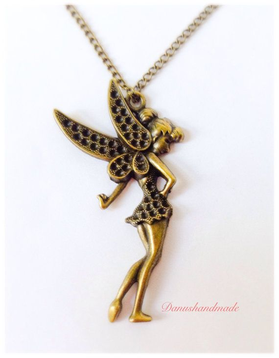 Tinkerbell+Necklace+Thinkerbell+Pendant+Fairytale+by+DanusHandmade