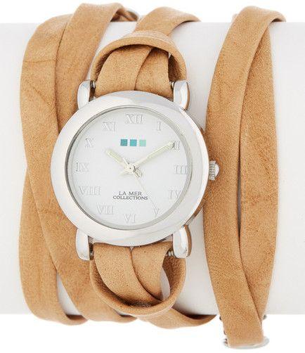 La Mer Women's Silver Saturn Wrap Watch