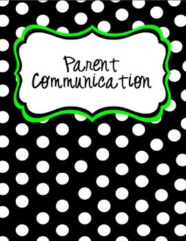 Stay organized with my Parent Contact Binder Cover & Contact Forms!