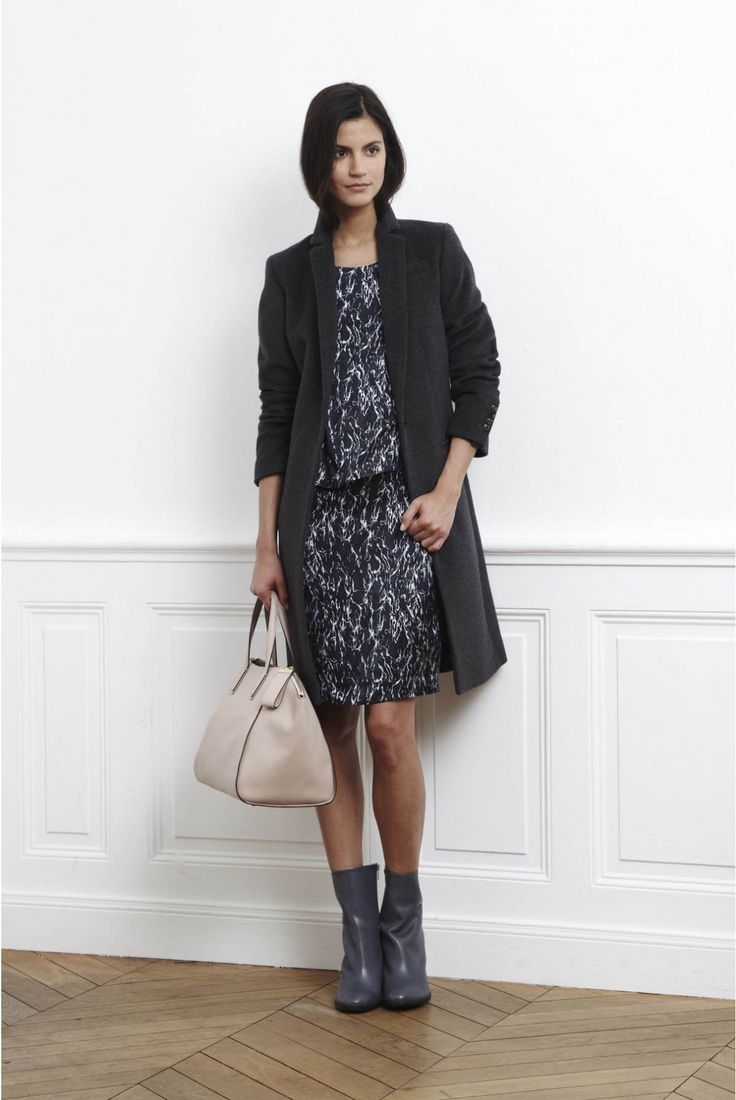 gerard darel | Perfect way to wear a dress with booties