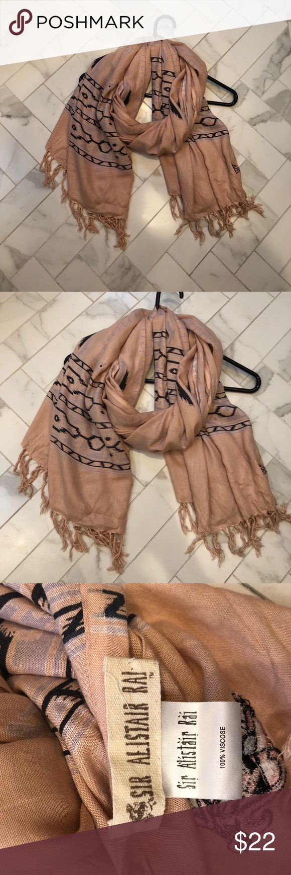 Light Pink and Navy Scarf - Sir Allstar Rai Excellent condition. Sir Alistair Rai Accessories Scarves & Wraps