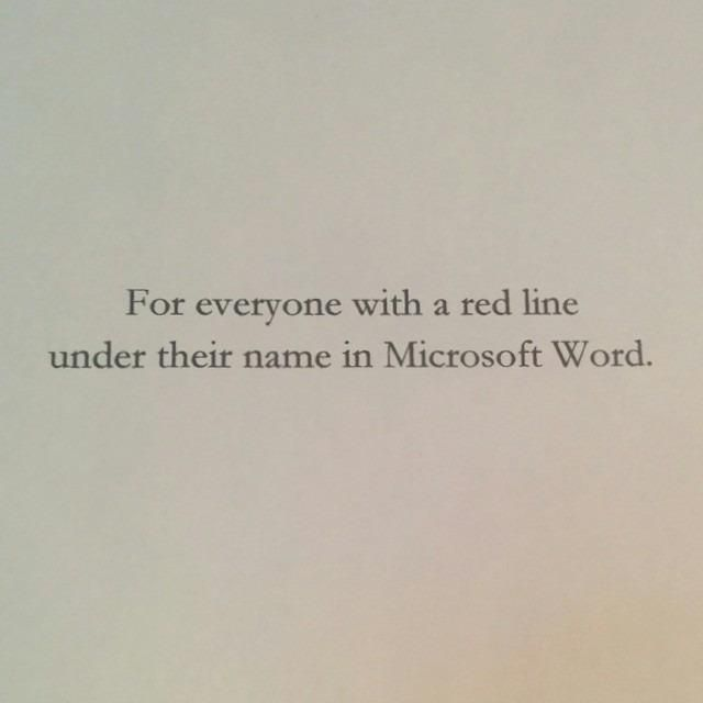 Hilarious book dedications.