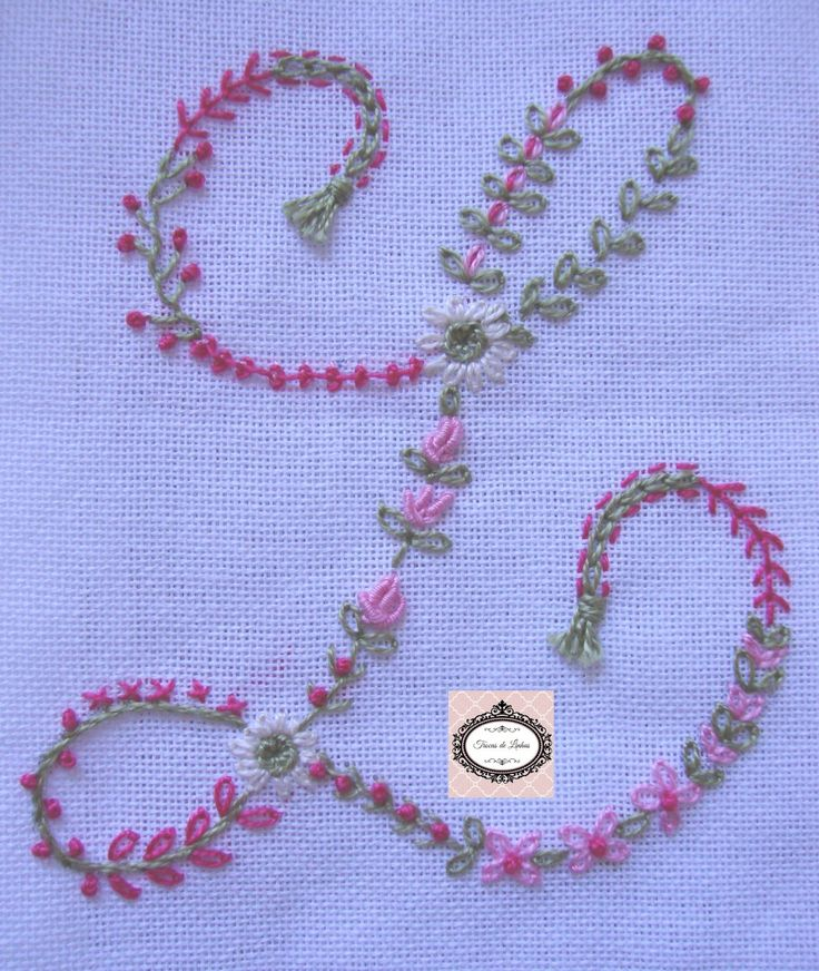 Embroidery Monogram Letter L Sample                                                                                                                                                                                 Mais