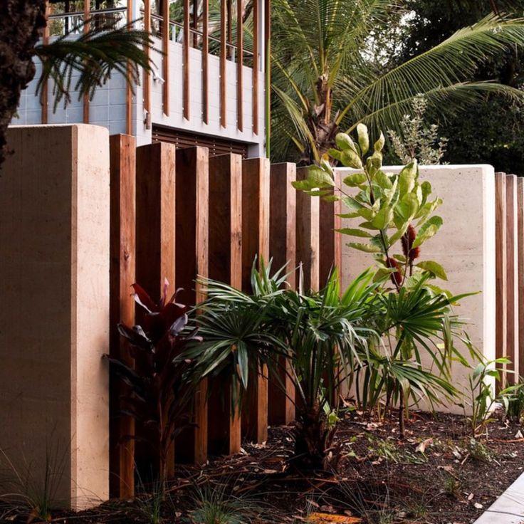 Currimundii House Sunshine Coast Australia www.conlongroup.com.au  landscape architecture design conlongroup residential luxury sustainable rammed earth recycled timber fence native plants