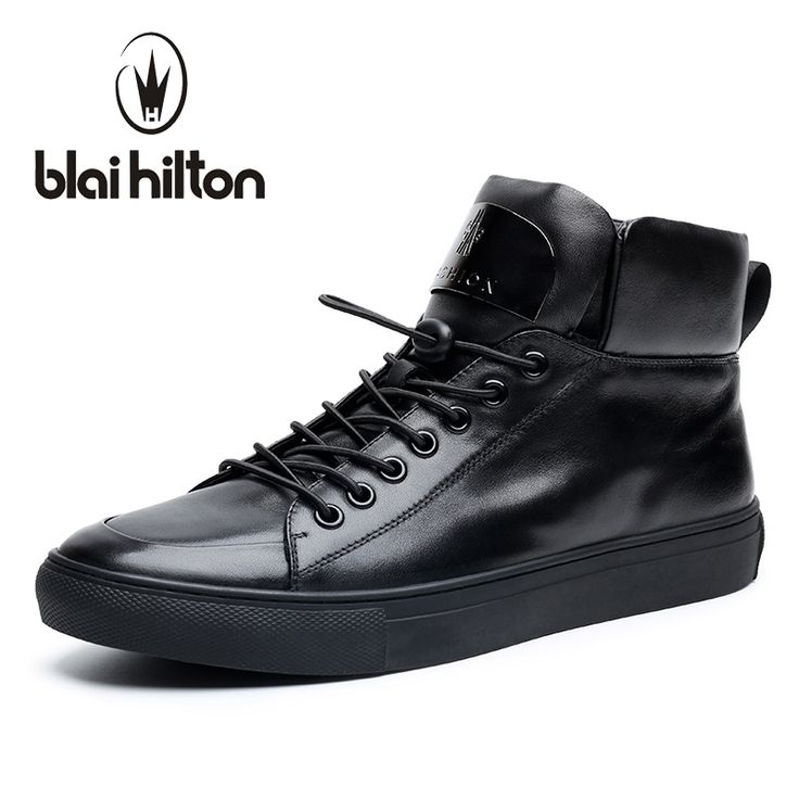 74.28$  Buy here - http://alid3i.shopchina.info/1/go.php?t=32810976333 - Blaibilton New Autumn Winter High Quality Mens Ankle Boot 100% Luxury Genuine Cow Leather Fashion Casual Western Boots Men Shoes  #aliexpresschina