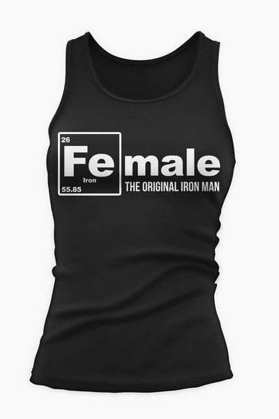17 best images about female original iron man tanks on for Best fitness t shirts