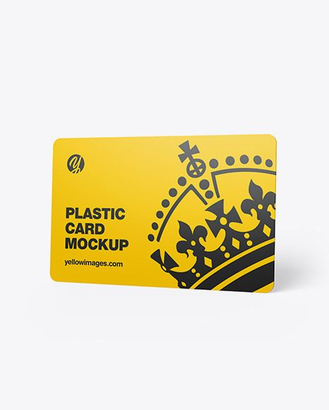 Plastic Card Mockup. Present your design on this mockup. Simple to change the co…
