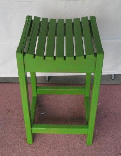 Vintage industrial wooden kitchen stool