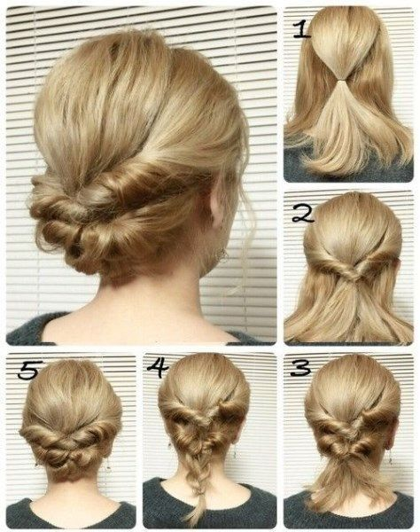 Hairstyles for medium and long hair for every # hairstyle # hair #all # length # middle # fast