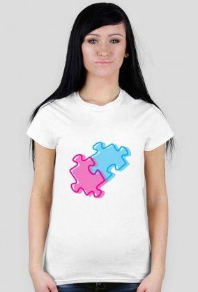 Puzzle - koszulka damska od Zadaj Szyku