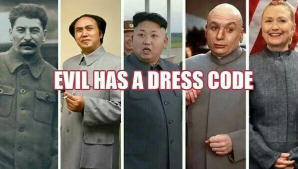 Evil has a dress code!! #CrookedHillary