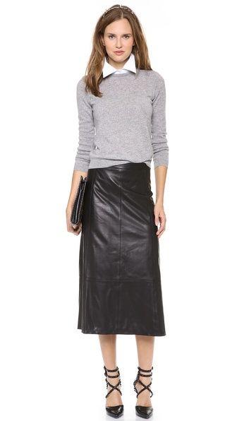 Kailey Leather Midi Skirt – Laresha Harris