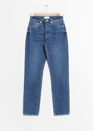 & Other Stories | Tapered Leg Denim Jeans