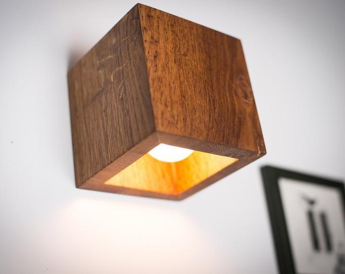wall lamp wooden DECOR#75 handmade. oak. wood art. wood lamp