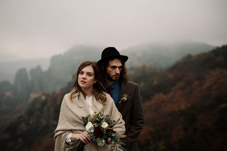 Winter Cliffside Elopement in Greece