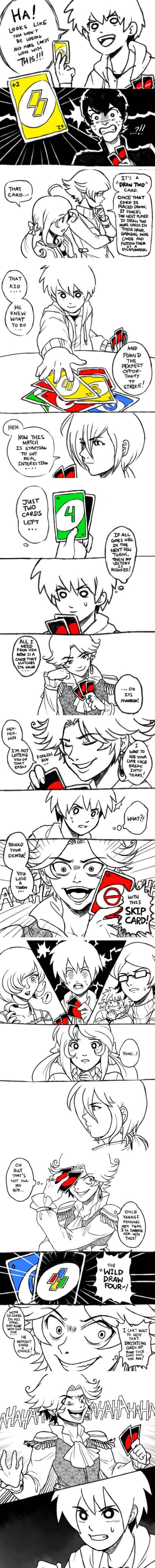 If uno were an anime  it's a lot like yu-gi-oh!